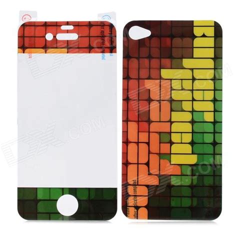 grid pattern iphone case grid pattern plastic screen back protectors for iphone 4