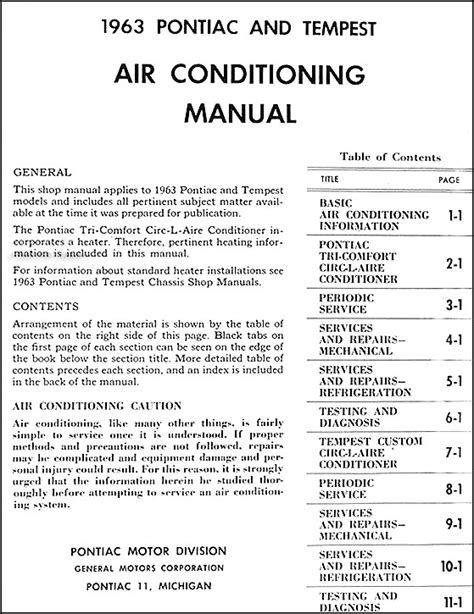 small engine repair manuals free download 1985 pontiac firebird on board diagnostic system 1963 pontiac air conditioning repair shop manual original