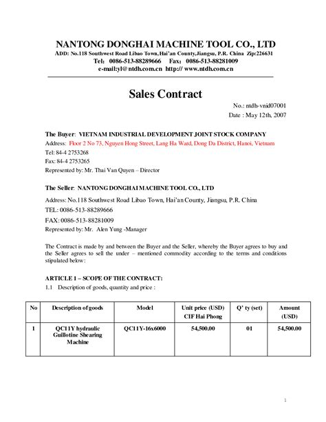 Sales Agreement Letter Format 10 best images of sle sales agreement business sales agreement contract template sle