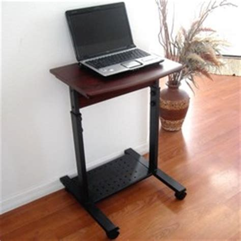 Small Laptop And Printer Desk S2015 20 Quot Narrow Laptop Desk Height Adjustable Sit And Stand