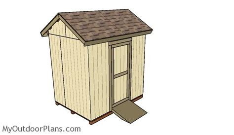 6x8 Shed Plans Free by 6x8 Gable Shed Roof Plans Myoutdoorplans Free