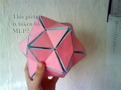 how to make 3d star and balls color origami 5