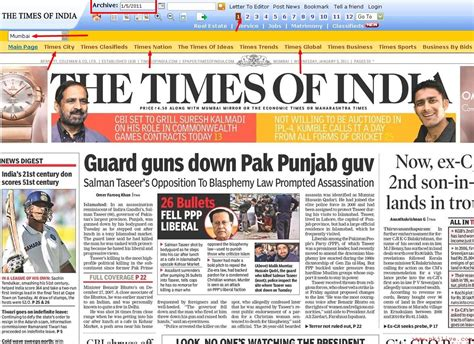 india today times of india newspaper today in headlines