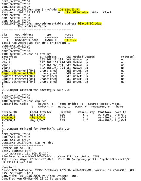 find ip and port finding what switch port an ip address is on with