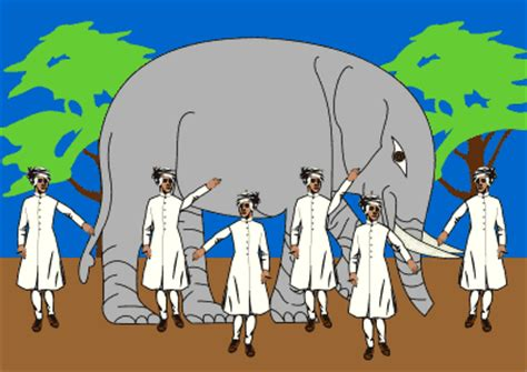 I See Said The Blind Man Poem Elephants In Cultures Amp Religions Six Blind Men