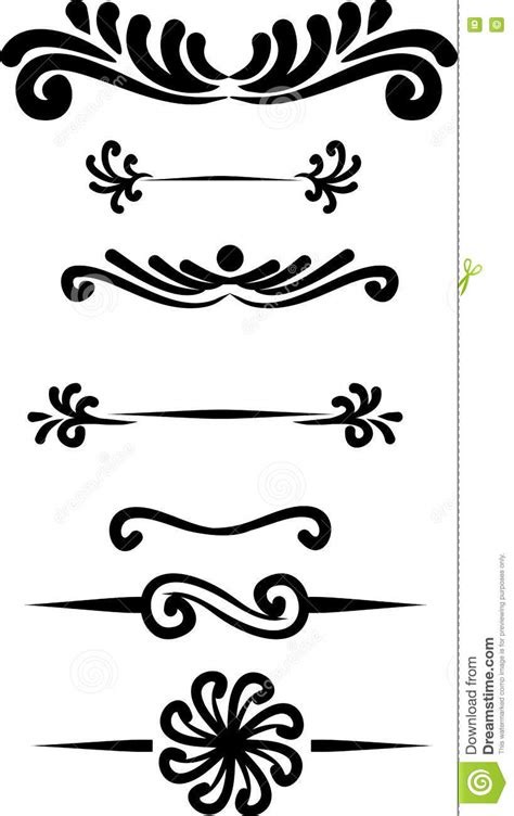 collection  hand drawn vintage frame  text decoration