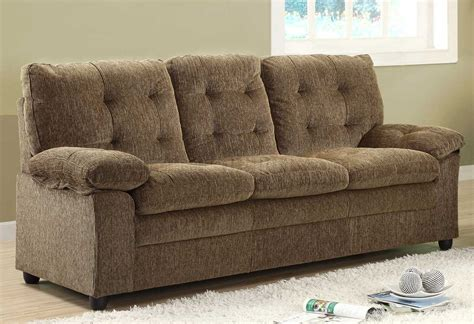 chenille fabric couch 9715br charley sofa in brown chenille fabric by homelegance