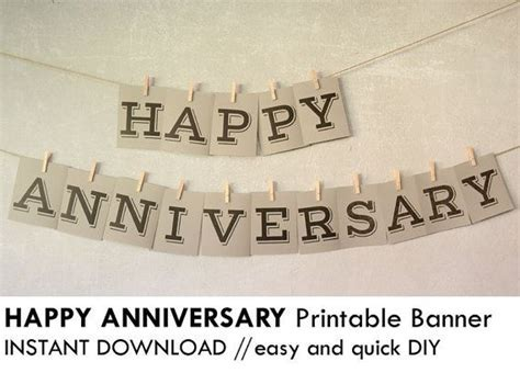 Print this quick and easy DIY Happy Anniversary party