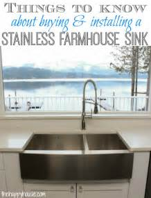 How Do You Install A Kitchen Sink Things To About Buying Installing A Stainless Steel Farmhouse Style Sink The Happy Housie
