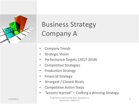 Mba Business Strategy by Mba 671 Business Strategy Game Company A Team Presentation