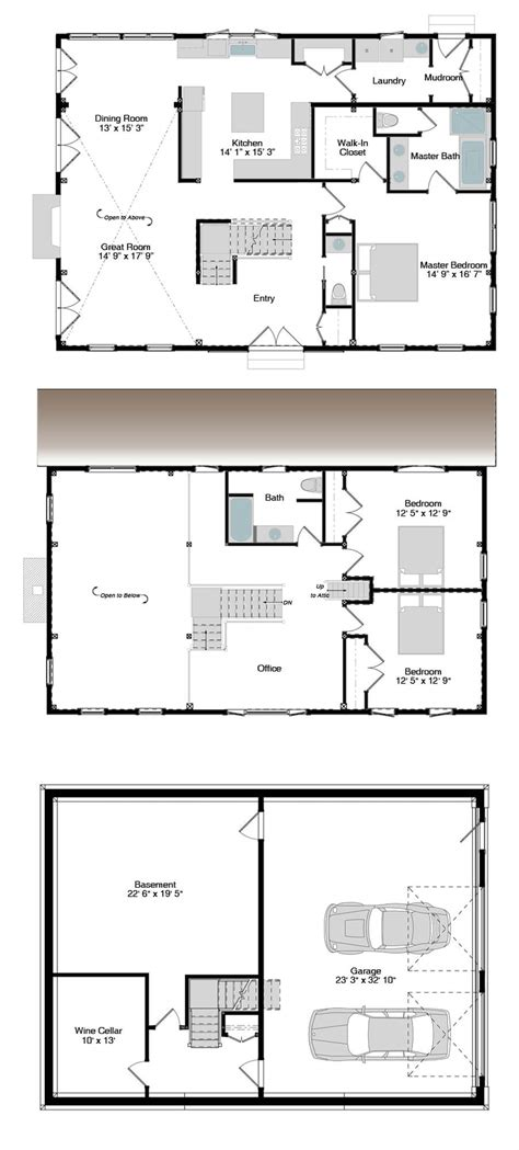 100 new american floor plans house plans adobe house