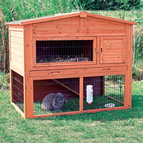Bunny Home Decor by Trixie Rabbit Hutch With Attic Large Rabbit Cages