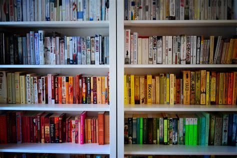Cheap Home Decor Ideas Pinterest Rainbow Rooms Tips For Colour Coding Your Bookshelves
