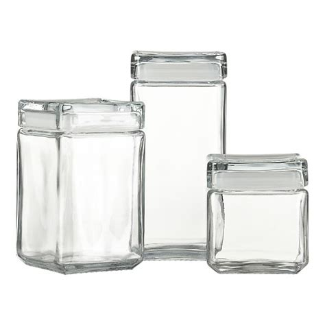 glass kitchen canisters in the kitchen