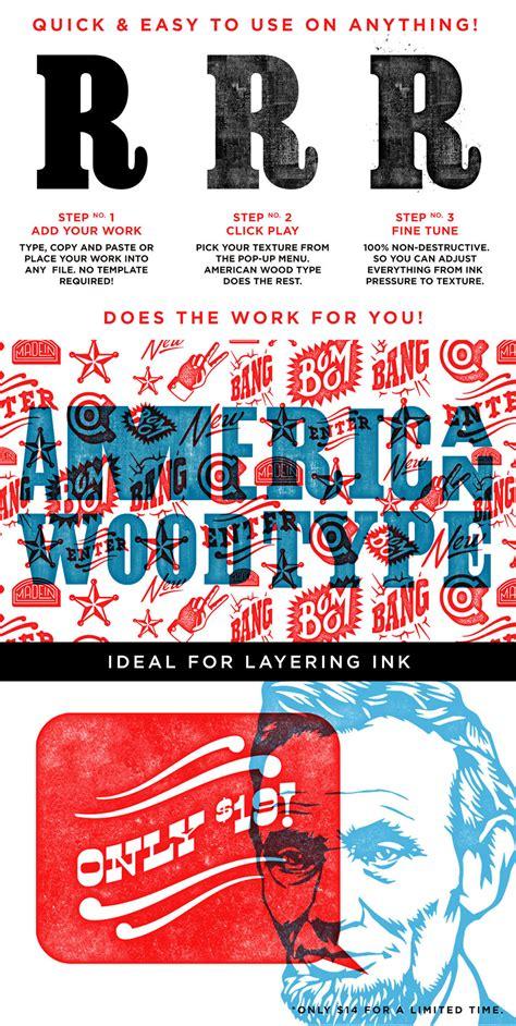 american wood type design cuts design cuts