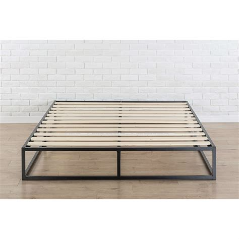 size platform bed frames king size modern 10 inch low profile metal platform bed