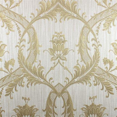 damask glitter wallpaper cream gold wallpaper