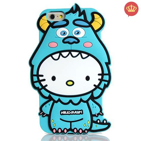 Hello Mike Sulley For Iphone 5 5s 6 6 Samsun Berkualitas capinha de silicone 3d hello sulley para iphone 5 5s