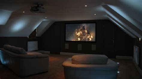 home cinema room design tips how to turn the attic into a home cinema room