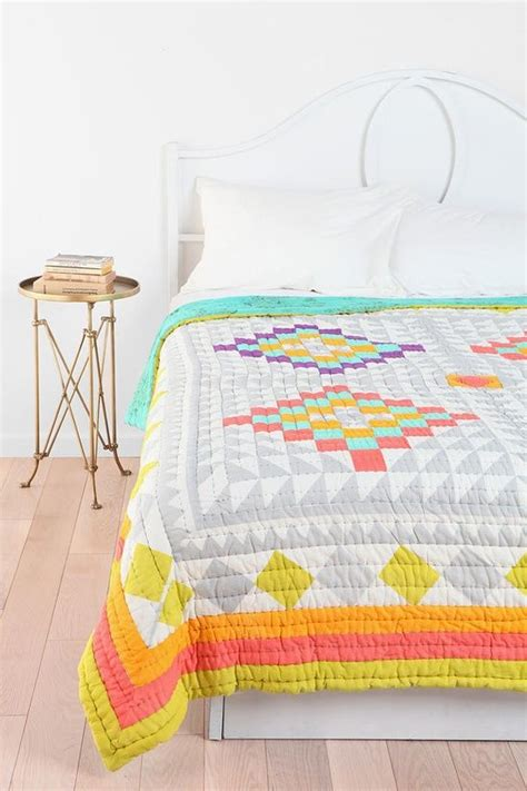 Kaleidoscope Patchwork Quilt - kaleidoscope patchwork quilt the grey and white makes the