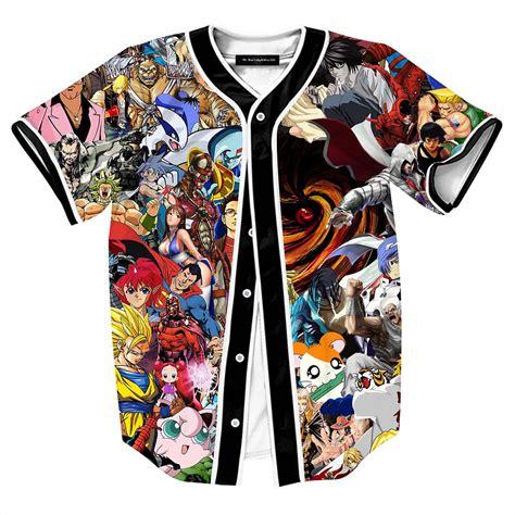 Total 90s Cartoon All over Print 3d Baseball Shirts Men
