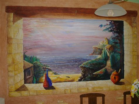 Trompe L Oeil Artiste by Fin De Journee Marine At Artiste Peintre Fresques