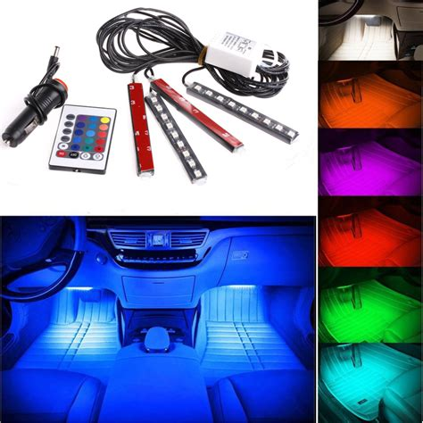 Interior Neon Lights For Trucks by Remote Rgb Wireless Car Truck 9 Led Neon Interior