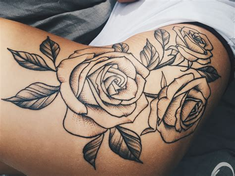 rose tattoos on hip roses hip big