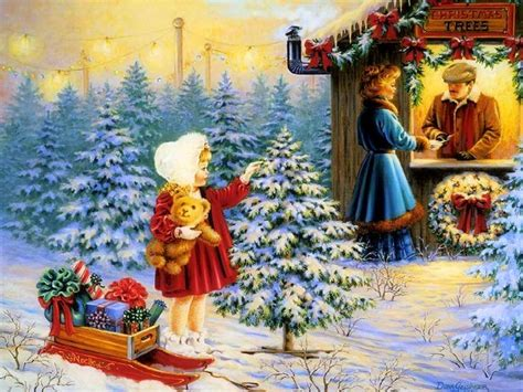 images of christmas paintings classic vintage style christmas celebration paintings for