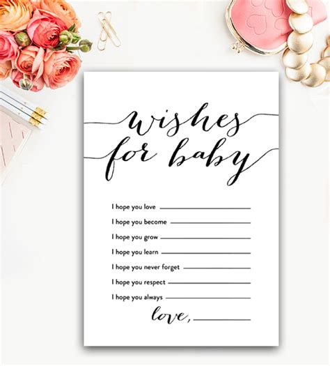 Baby Shower Wishes For Baby by Baby Shower Wishes For Baby Black And White Instant
