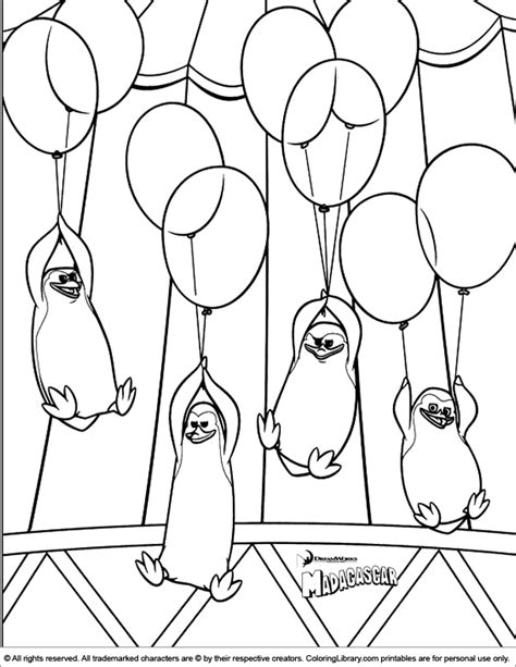 penguins of madagascar coloring pages pdf madagascar coloring picture coloring home