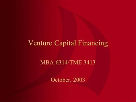 Ppt On Venture Capital For Mba Students venture capital authorstream