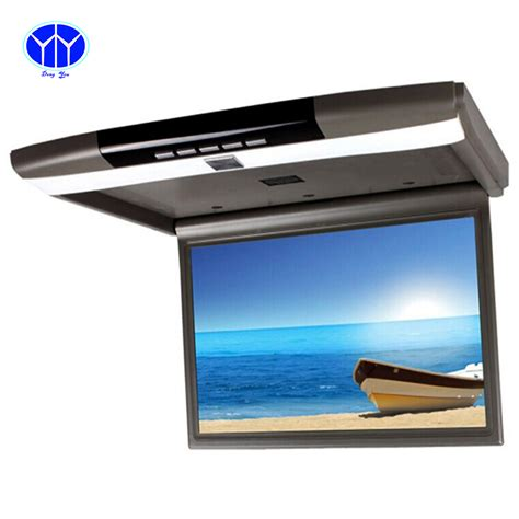 Monitor Roof 15 6 inch tft lcd car tv monitor roof mount ceiling flip for peugeot display screen led hd