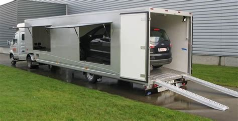 fourgon porte voiture equita sun remorque vl transport de voiture