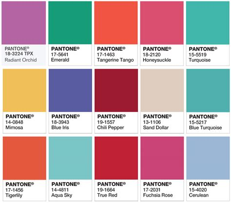 pantone colors of the year list 10 best images of 2015 pantone color chart pantone color