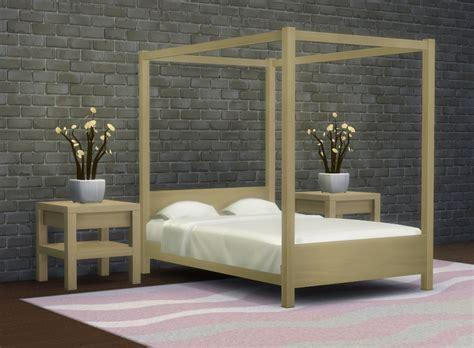 modern four poster bed mod the sims modern four poster double bed