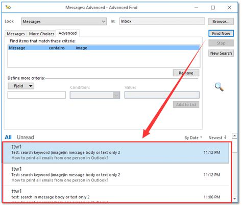 Search Outlook Emails For Keywords How To Search In Email Messages Text In Outlook