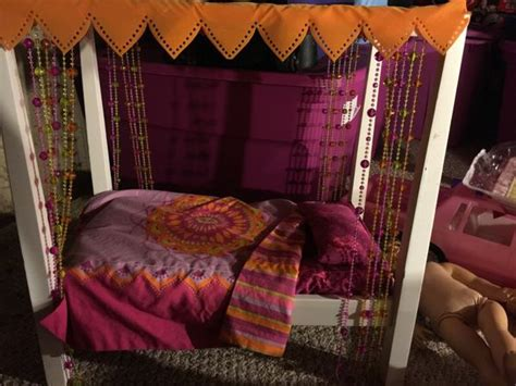 american girl julie bed american girl julie canopy bed with blanket pillow games toys in bolingbrook il