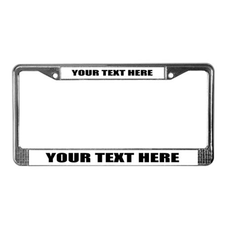 License Plate Frame Template Customizable License Plate Frame