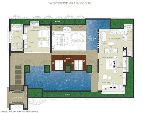 2 Bedroom Villa Floor Plans by W Residence Villas For Sale 2 Bedroom Pool Bali Management