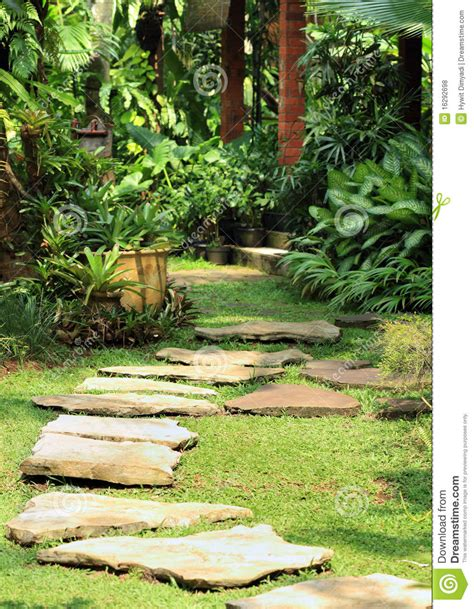 Gardening Naturally Lush Garden Royalty Free Stock Photos Image