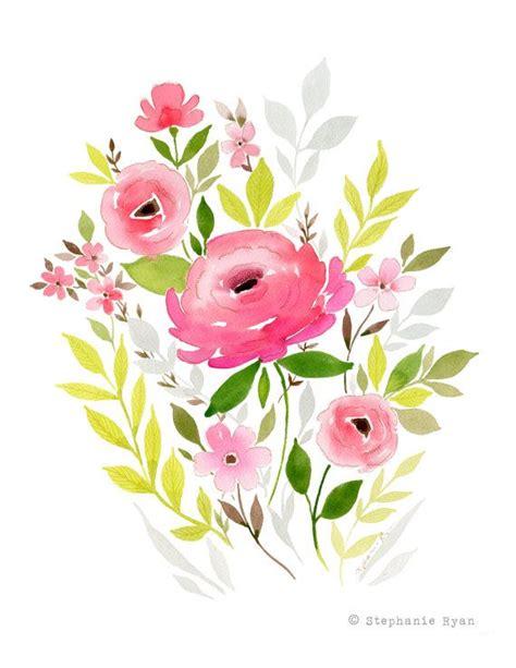 printable watercolor flowers phoebe art print drawing flowers flower and watercolor art