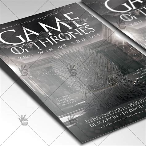 Game Of Thrones Premium Flyer Psd Template Psdmarket Of Thrones Photoshop Template