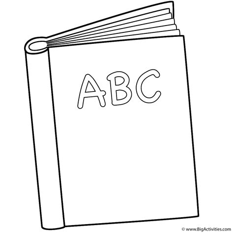 coloring book page template abc book coloring page back to school
