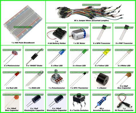 resistor capacitor starter kit electronics starter kit f for arduino breadboard resistor motor wires capacitor ebay