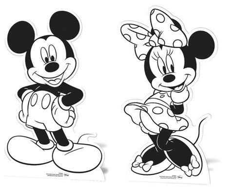 mickey mouse paint coloring pages mickey mouse minnie mouse cardboard cutouts paint