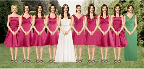 Different Wedding Pictures by Help Bridesmaids With Different Dresses Weddingbee
