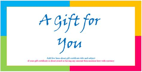 design a gift certificate template free custom gift certificate templates for microsoft word