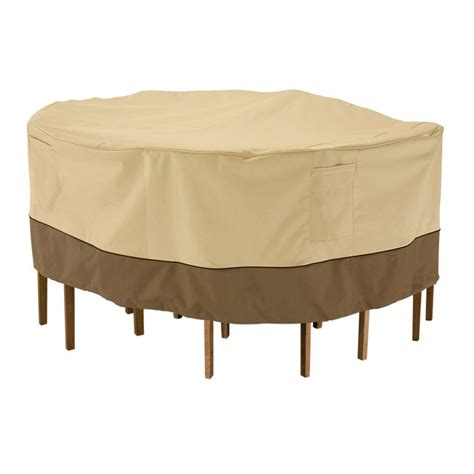 Large Patio Table Cover Classic Accessories Veranda Large Patio Table And Chair Set Cover 78942 The Home Depot