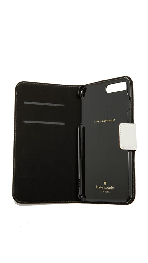 lyst kate spade leather wrap folio iphone   case